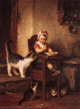 EW 0012 – Kleinkind mit Katzen