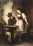 EW 0031 – Bursche und junge Frau am Tisch