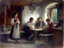 EW 0032 – Wirtshausszene mit Kartenspielern