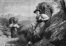 """EW 0036 – Zwei Frauen mit Bütten (""""Kurze Rast"""")"""