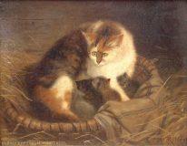 EW 0043 – Katze mit Jungen