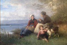 EW 0046 – Großmutter, Mutter und Kind mit Ziege am See