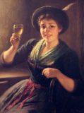 EW 0059 – Mädchen mit Weinglas