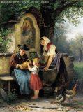 EW 0064 – Frauen mit trinkendem Kind am Brunnen