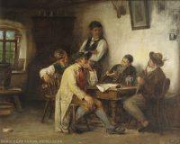 EW 0141 – Fünf Männer im Wirtshaus am Tisch