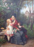 EW 0147 – Mutter mit zwei Kindern auf Parkbank