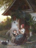 EW 0175 – Zwei Kinder vor der Kapelle