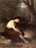EW 0214 – Mädchen mit rotem Strumpfband