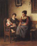 EW 0002 – Mutter mit zwei Kindern in der Stube
