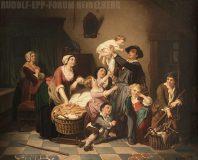 EW 0004 – Familie an der Wiege eines Kleinkinds