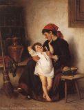 EW 0011 – Mutter mit Kind am Ofen