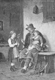 """EW 0075 – Großvater mit zwei Kindern (""""Ein Wunderding vom Jahrmarkt"""")"""