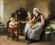 EW 0079 – Mutter mit zwei Kindern und Birnen