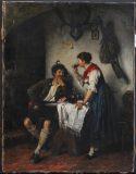 EW 0080 – Bursche und junge Frau am Tisch