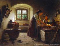 EW 0088 – Mutter mit Knaben am Herd