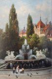 EW 0094 – Lenbachplatz in München mit Wittelsbacher Brunnen