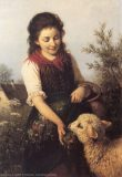 EW 0124 – Mädchen mit Blumen und Schaf
