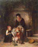 EW 0130 – Großmutter mit zwei Kindern und Hasen