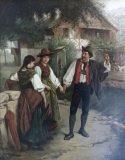"""EW 0136 – Junger Mann mit zwei Frauen (""""Liebesleid"""")"""