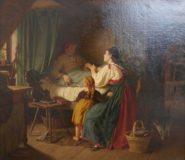 EW 0143 – Mutter und Tochter am Bett einer Kranken