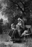 EW 0151 – Strickende Mutter mit Kind