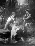 EW 0161 – Mutter mit zwei Kindern am Steg