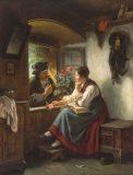EW 0172 – Bursche und junge Frau am Fenster