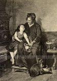 EW 0173 – Großmutter mit Kind und Katzen