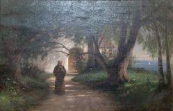 EW 0204 – Klostergarten mit lesendem Mönch