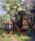 EW 0205 – Bauerngarten mit blühendem Holunder