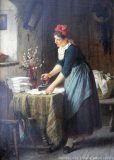 EW 0222 – Bügelnde Frau