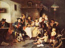 EW 0255 – Stube mit gaukelnden Kindern vor Publikum