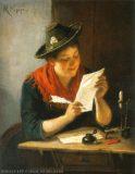 EW 0258 – Mädchen mit Schreibzeug und Brief