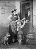 EW 0275 – Junges Mädchen beim Bierholen