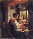 EW 0281 – Mutter mit Kind am Fenster