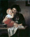 """EW 0285 – Mutter mit Kind am Tisch (""""Beim Frühschoppen"""")"""