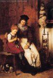 EW 0298 – Mutter mit strickendem Kind