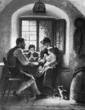 EW 0300 – Familie mit zwei Kindern in der Stube
