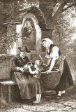 EW 0310 – Frauen mit trinkendem Kind am Brunnen