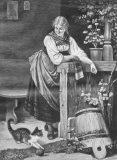 """EW 0311 – Mädchen mit Katze (""""Spielkätzchen"""")"""