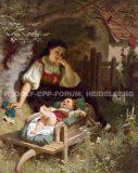"""EW 0327 – Mutter mit Kind auf Schubkarre (""""Mutterglück"""")"""