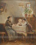 EW 0330 – Mutter mit zwei Kindern am Tisch