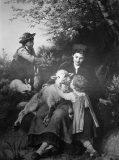 EW 0345 – Mutter mit zwei Kinder, Schaf und Hasen