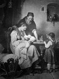 EW 0350 – Großmutter, Mutter und zwei Kinder in der Stube