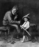 EW 0352 – Großvater und Knabe mit Holzschwert