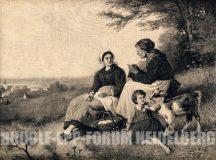 EW 0366 – Großmutter, Mutter und Kind mit Ziege