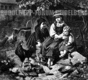 EW 0372 – Drei Kinder mit Küken