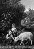EW 0374 – Zwei Kinder mit Schaf
