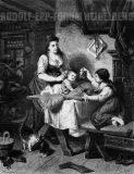 EW 0377 – Mutter mit zwei Kindern in der Stube