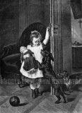 EW 0379 – Mädchen mit Puppe und Hunden